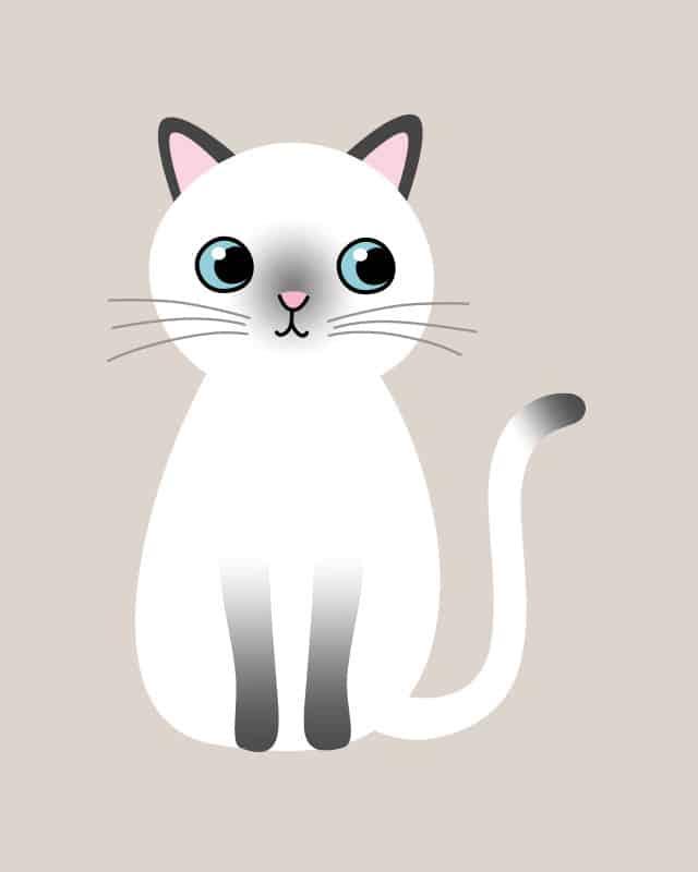 Gambar Kucing Kartun Imut godean.web.id