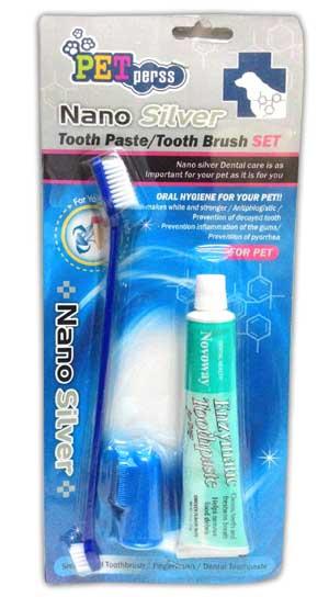 Nano Silver sikat dan pasta gigi kucing