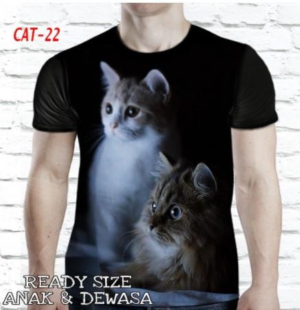Kaos kucing 3D