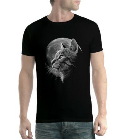 Kaos kucing bulan