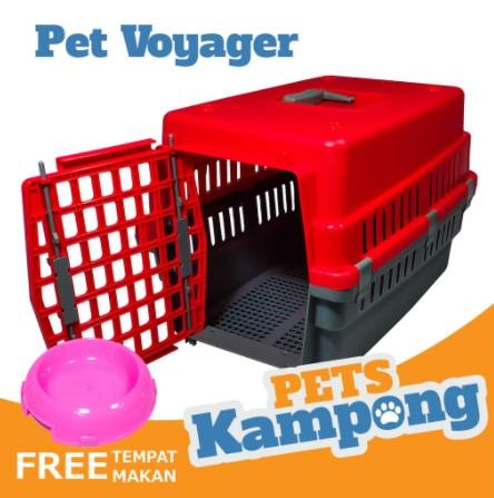 Pet cargo plastik dengan tray